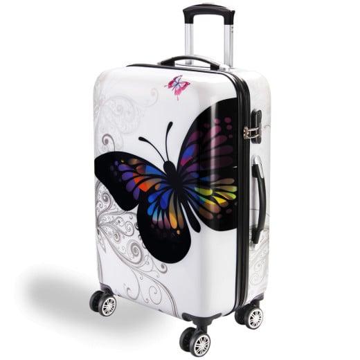 Koffer Hartschale Butterfly L aus Polycarbonat 66l 68x43x27cm