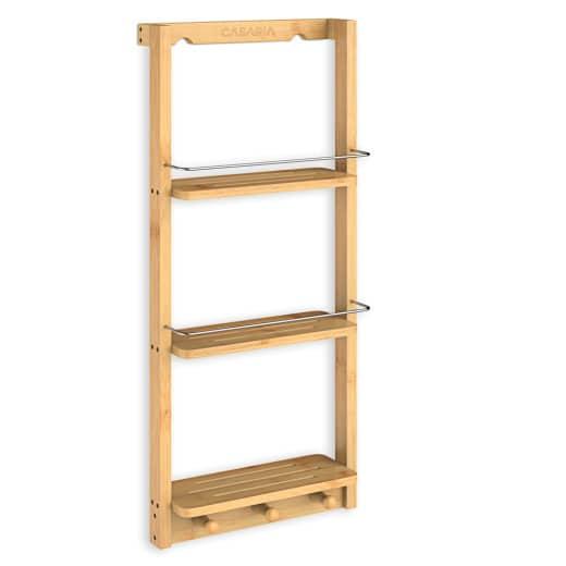 Badezimmerregal aus Bambus 28x11x4in
