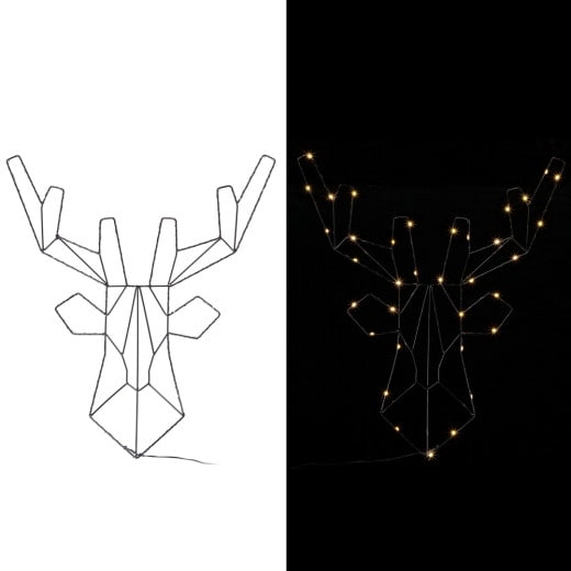LED Rentier Metall Warmweiß inkl. Timer