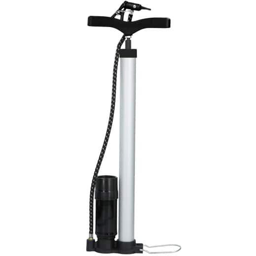 Stand-/ Fahrradluftpumpe aus Aluminium mit Manometer
