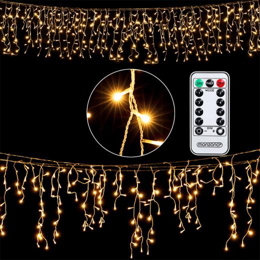 Regenlichterkette Weihnachten 400 LEDs 15m inkl. Fernbedienung