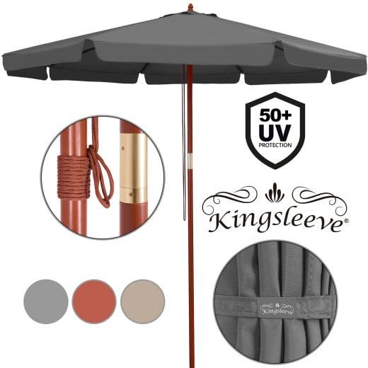 Sonnenschirm Holz Ø330cm UV-Schutz 50+