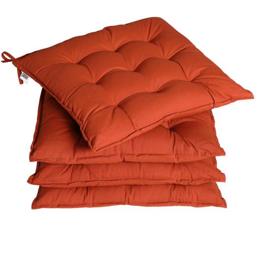 Sitzkissen 4er-Set Cozy Terrakotta