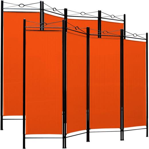 2x Paravent Raumteiler in orange