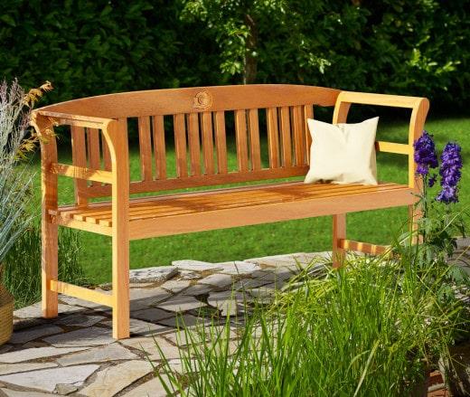 Gartenbank Rose Eukalyptusholz 158x43x82cm FSC®-zertifiziert