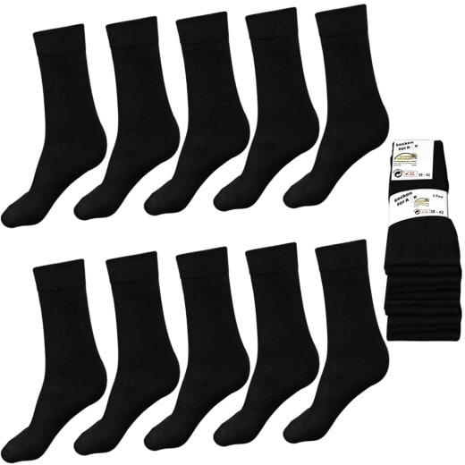 Dr. Bieler Socken 10er-Set Schwarz 39-42