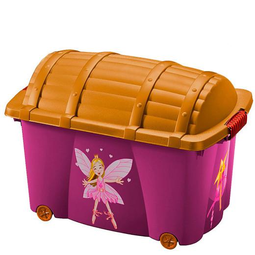 Fee Aufbewahrungsbox - 50L in pink-orange