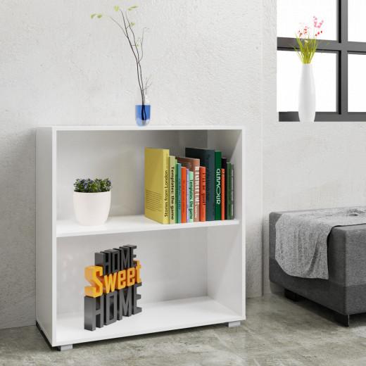 Bücherregal »Vela« Weiß mit 2 Fächern