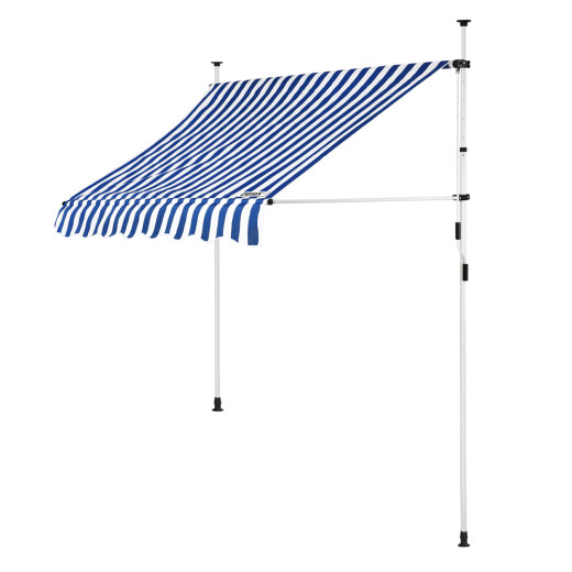 Clamp Awning White/Blue 5ft