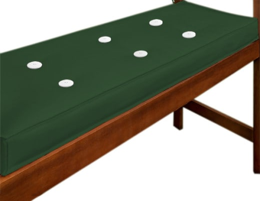Sitzauflage Bank Grün 110x45x7cm