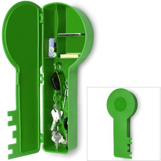 Schlüsselkasten in Schlüsselform grün