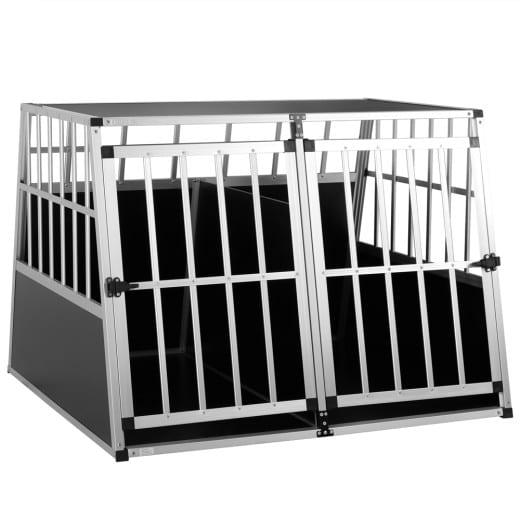 Hundetransportbox XXL 97x90x70cm Alu