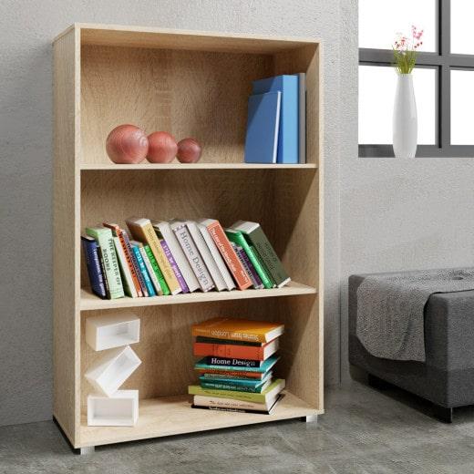Bücherregal »Vela« Eiche mit 3 Fächern
