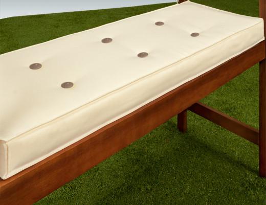Sitzauflage Bank Weiß 145x45x7cm