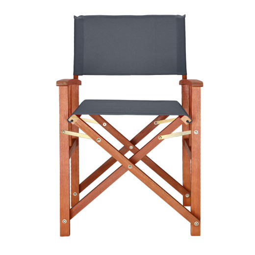 "Regiestuhl ""Cannes"" in Anthrazit Eukalyptus Holz"