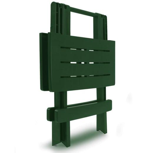 2x Kunststofftisch in grün 45x43x50cm klappbar