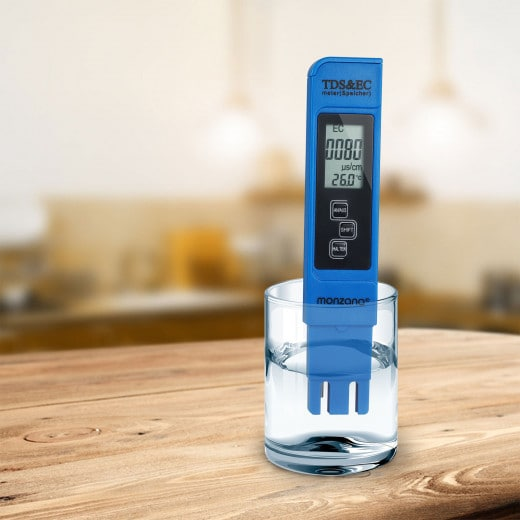 Digitaler Wassertester mit LCD Anzeige 3in1 - TDS- EC- und Temperaturmessgerät