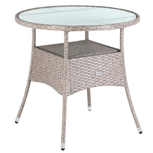 Polyrattan Tisch Creme Ø80cm