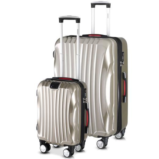 Koffer Hartschale 2 tlg. Ikarus Champagner M/XL aus ABS 38l, 105l