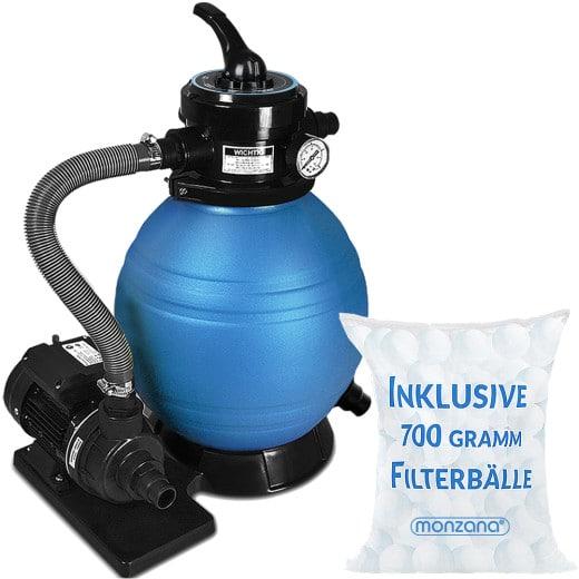 Sandfilteranlage 10.200L/h inkl. Filterbälle