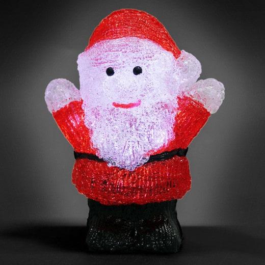 LED Acryl Figur Weihnachtsmann