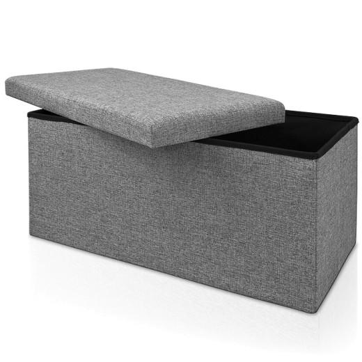 Faltbare Sitzbank/Sitzhocker MDF - 80x40x40 cm grau