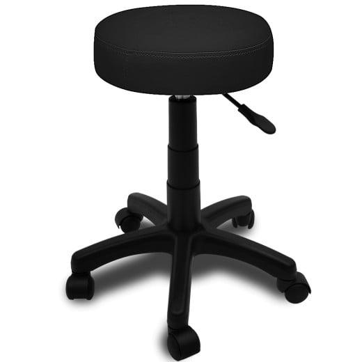 Rollhocker mit gepolsterter Sitzfläche