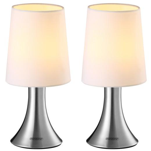 Tischlampe 2er-Set Cahaya Weiß