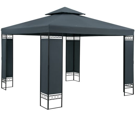 Pavillon Lorca Anthrazit 3x3m