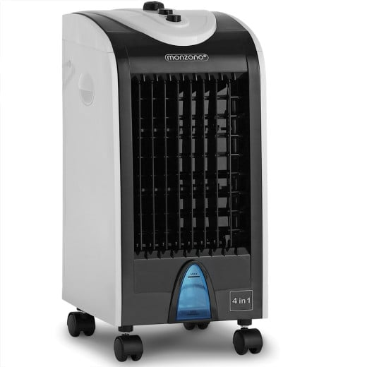Mobiles Klimagerät Weiß/Schwarz 4L