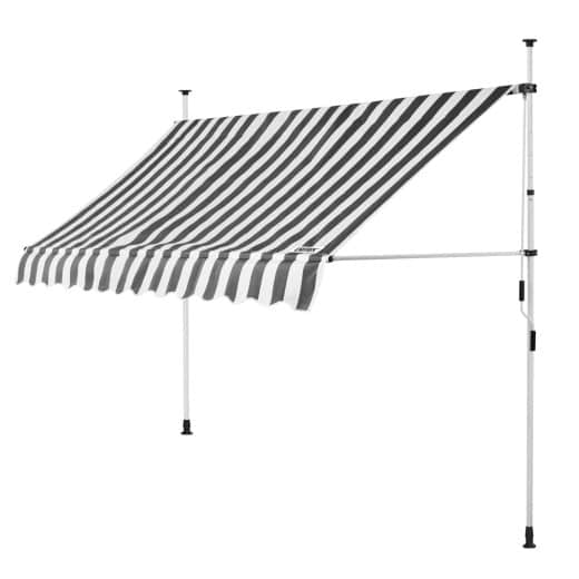 Clamp Awning White/Grey 10ft