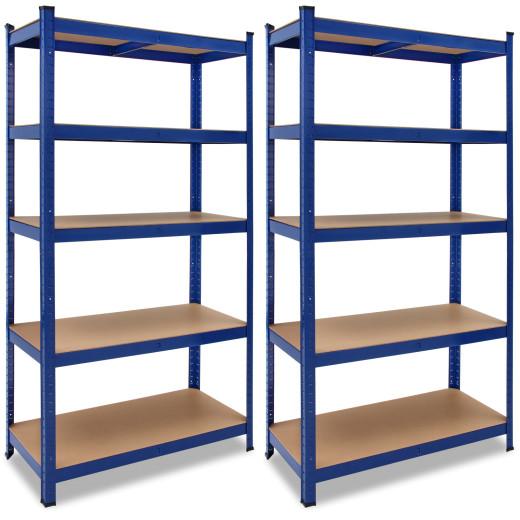 Schwerlastregal 2er-Set Blau 180x90x40cm 875kg