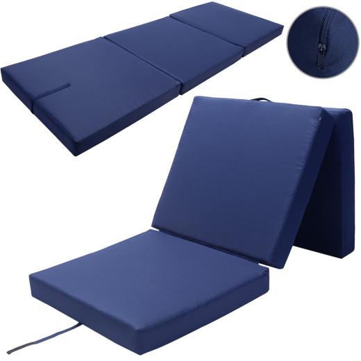 Matratze Blau 190x70x10cm faltbar