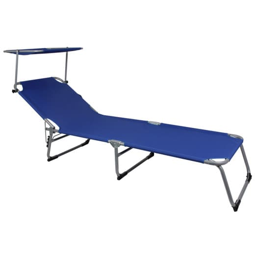 Sonnenliege Hawaii Blau Alu 195x60x30cm