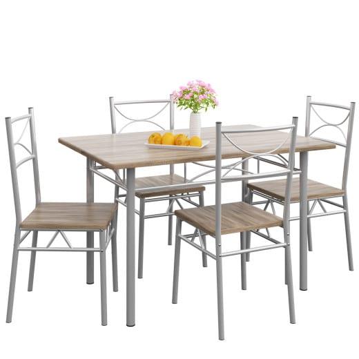 Sitzgruppe - Esstisch + 4 Stühle - Eiche