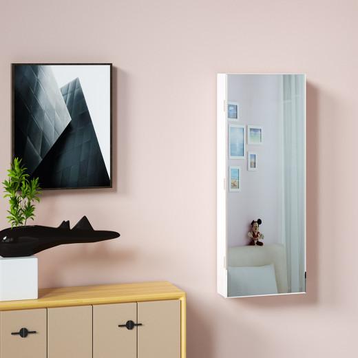 Mirror Jewellery Cabinet White