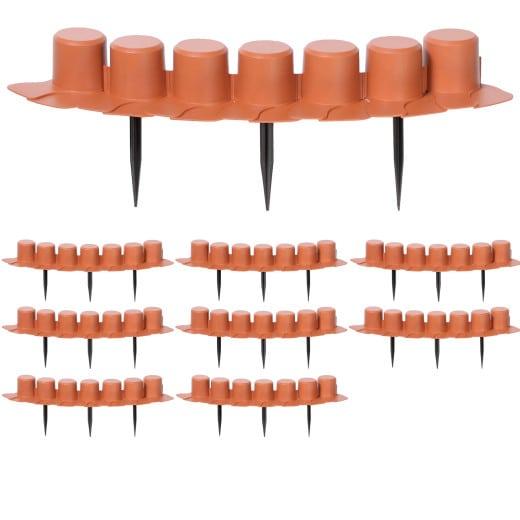 Beeteinfassung 3er-Set Terrakotta 12,15 m