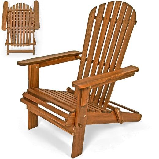 Klappbarer Liegestuhl Adirondack aus Akazienholz