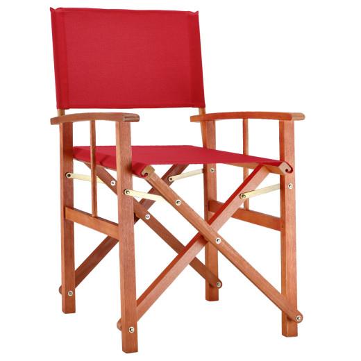 Regiestuhl Cannes Rot Eukalyptus FSC®-zertifiziert