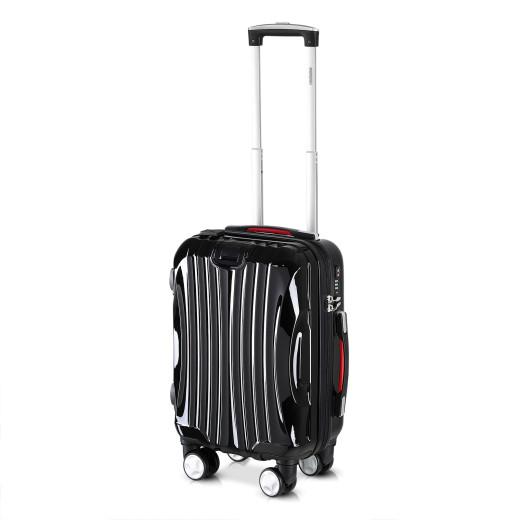 Koffer Hartschale Ikarus Schwarz M aus ABS 38l 55x35x20cm