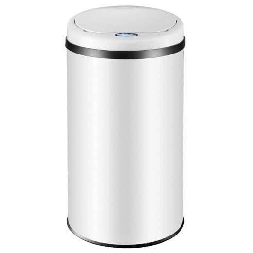 Sensor Mülleimer Edelstahl Weiß 56 Liter