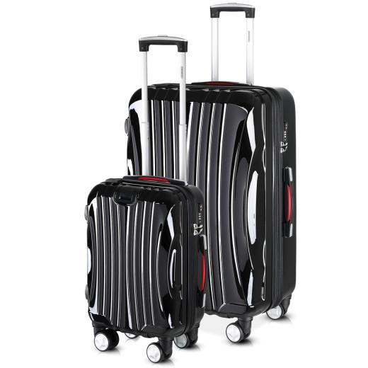 Koffer Hartschale 2 tlg. Ikarus Schwarz M/XL aus ABS 38l, 105l