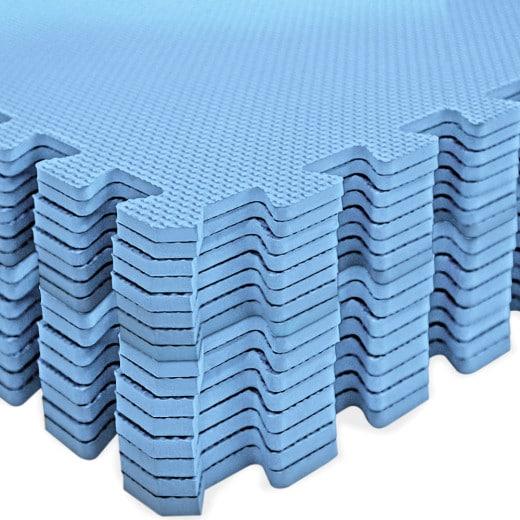 Bodenschutz-/Puzzlematte 16tlg. Blau 180x180x1cm