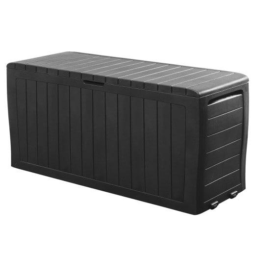 Auflagenbox Marvel Plus Anthrazit 117x45x57cm mit Rollen