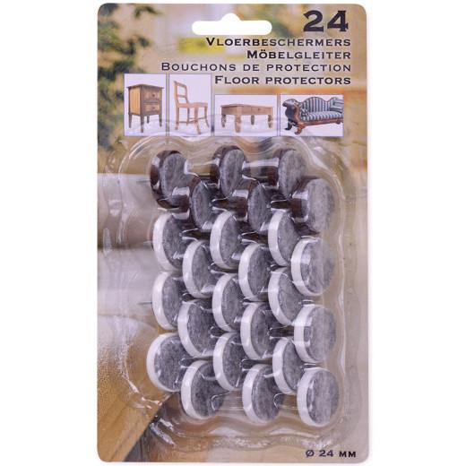 48 Filzgleiter mit Nagel in weiß