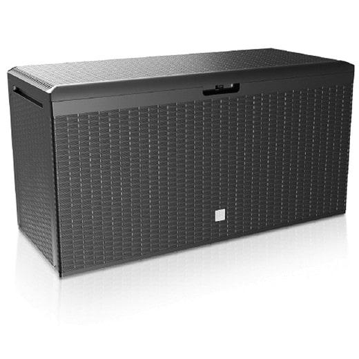 Polyrattan Auflagenbox Anthrazit 114x47x60 cm