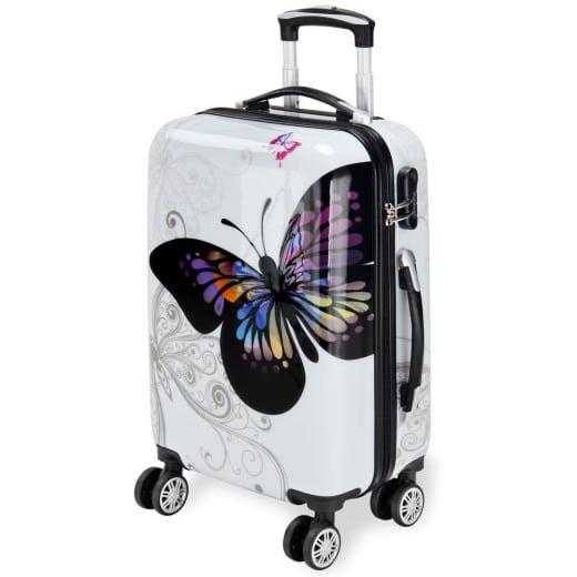 Koffer Hartschale Butterfly M aus Polycarbonat 42l 56x37x23cm