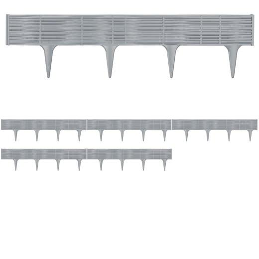 Beeteinfassung 4er-Set Grau 15,60m