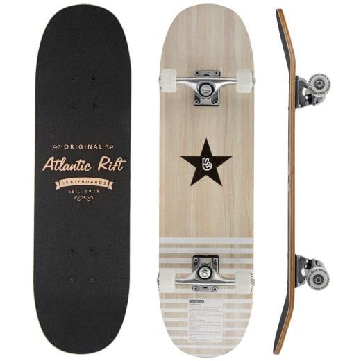 Skateboard aus Holz mit PU-Dämpfer und Anti-Rutsch-Oberfläche Atlantic Rift