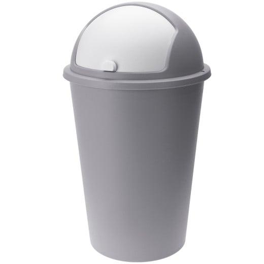 Mülleimer Taupe Kunststoff 50L